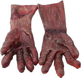 Weiy Halloween Monster Ghul Handschuhe Hände Zombie Ghost Halloween Dance Party Kostüm Halloween Kostüm, Lange blutige Hand