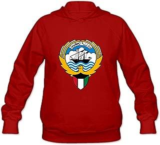 Coat Of Arms Of Kuwait Joke 100% Cotton Long Sleeve Sweatshirt For Women