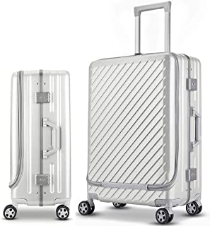 Aluminum Luggage, Carry On Cabin Suitcase With TSA Lock Spinner Wheels, Scratch-Resistant, Easy for Both of Pleasant and Business Trip