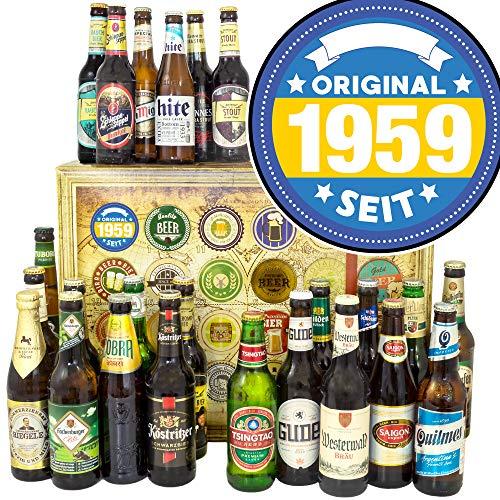 Original 1959 / 24x Biere DE und Welt/Geburtstag Geschenke/Bier Geschenk Adventskalender