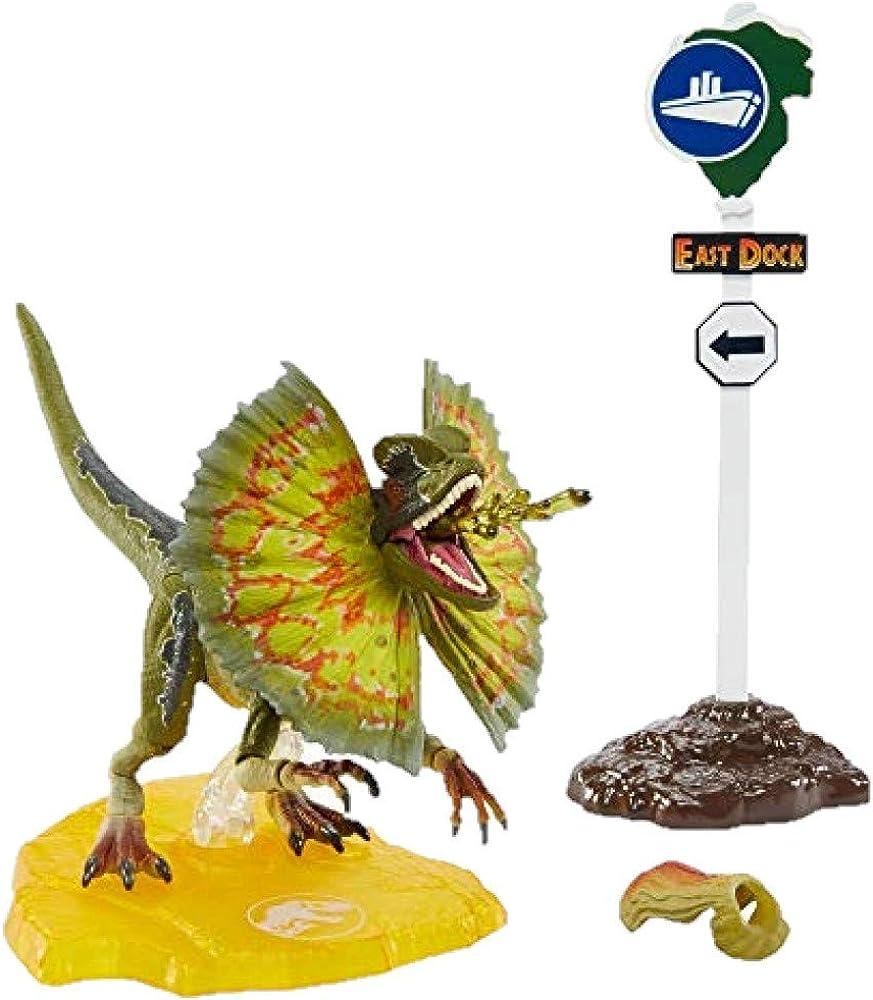 Jurassic world, amber collection dinosauro dilophosaurus GPG93