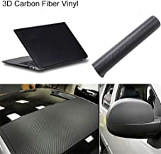 3D Carbon Fiber Vinyl Sticker Film Wrap Twill Weave Self-Adhesive for Motorcycle Car Black12710/20/30cm (127x 10cm)