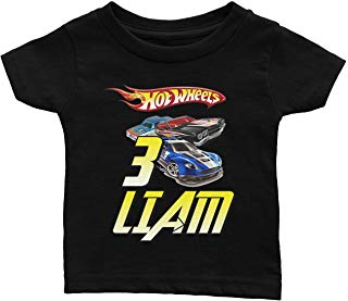 Personalize Hot Wheels Birthday Shirt
