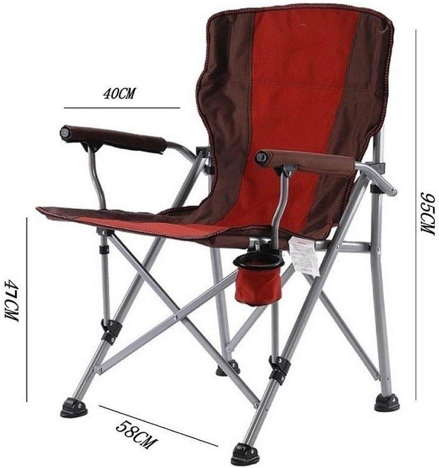 Chaise Longues Chaise Portatives De Camping Avec Porte-Boisson Pliante Compact Chaises De Jardin, 3 Couleurs (Color : Blue) Red