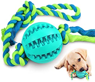 CHLEBEM Interactive Dog Toys, Dog Chew Toys Ball for Small Medium Dogs, IQ Treat Boredom Food Dispensing, Puzzle Puppy Pal...