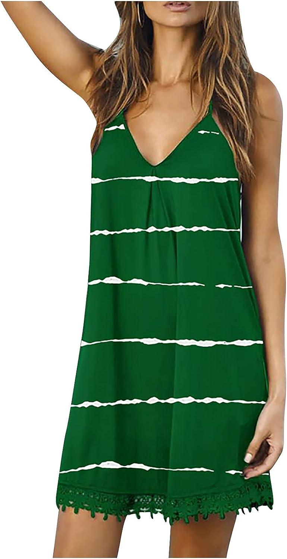 Casual Summer Dress for Women Ranking TOP10 Sleeveless online shopping V-Neck Beach Spaghetti