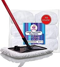 VanDuck 100% Cotton Terry Cloth Mop Pads 15x8 Inch 6-Pack