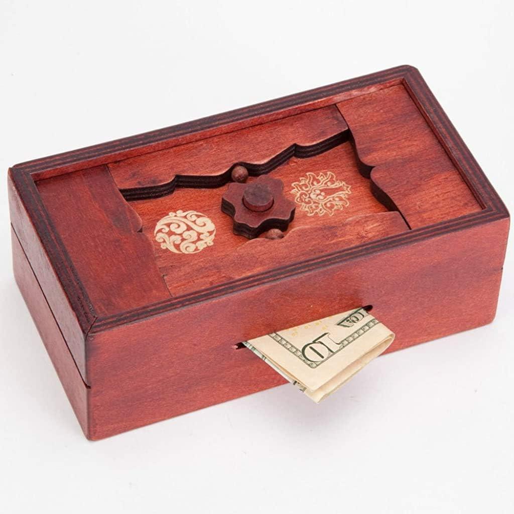 Secret Puzzle Box Brain Teaser Games Wooden Gift Hidden Diamond Jewelry Fav R5W7