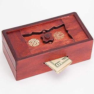 Bits and Pieces - Japanese Secret Puzzle Box Brainteaser - Wooden Secret Compartment Brain Game for Adults - Stash Your Ca...