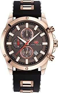 MINI FOCUS Fashion Luminous Quartz Man Watch Water-Proof Silicone Band Men Casual Wristwatch Chrono Sports Style Masculino...