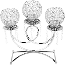 HOMYL Crystal Candelabra for Home Decoration Wedding Party Table Decorative Centerpiece Candle Holders Festival Holiday De...