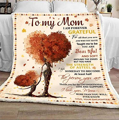 TO MY DAUGHTER LOVE YOUR MOM LOVE YOUR MOM QUILT FLEECE BLANKET GIFT