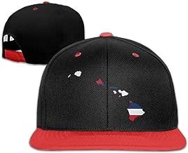 Flag Map Of Hawaii Hip-Hop Snapback Hats One Size Unisex