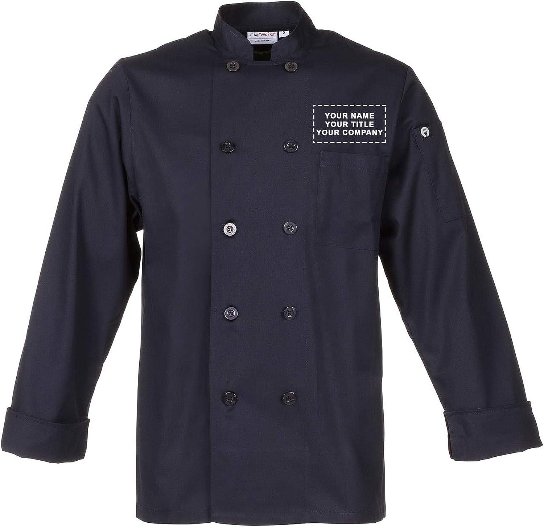 Chef Works Custom Unisex Torino Chef Coat: Clothing, Shoes & Jewelry