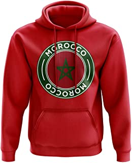 Morocco Football Badge Hoodie (Red)
