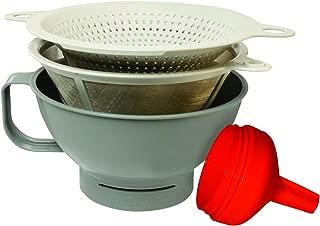 Chef's Planet #130 Multipurpose Filter Funnel Set, Gray/White/Red
