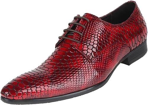 Wuf Chaussures En Cuir hommes Travail Décontracté Habillé
