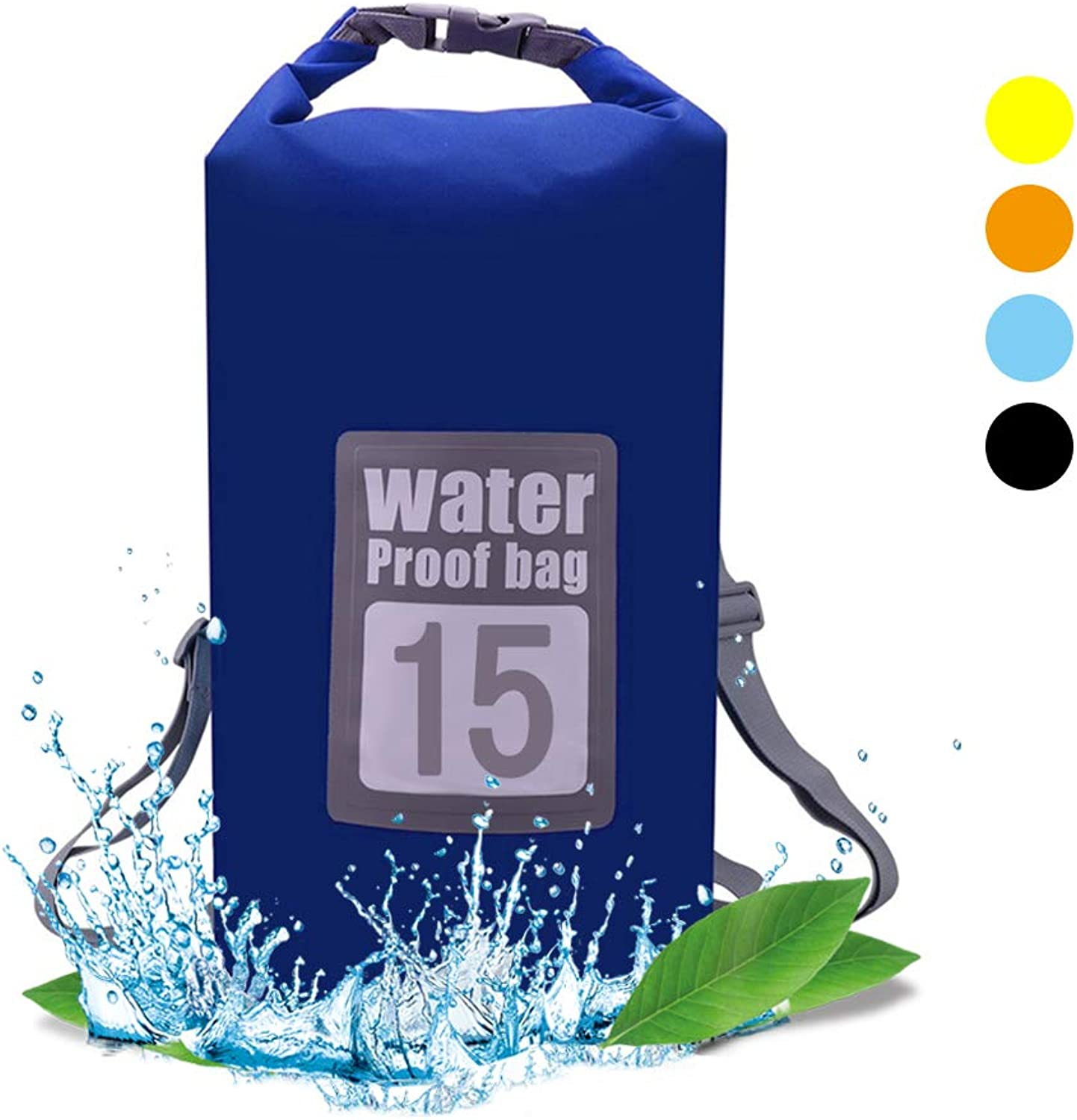 QiYue Waterproof Dry Bag Backpack Small Large 5L 10L 15L 20L Roll Top Floating Sack for Kayaking Boating Hiking Fishing Canoeing Swimming Travel