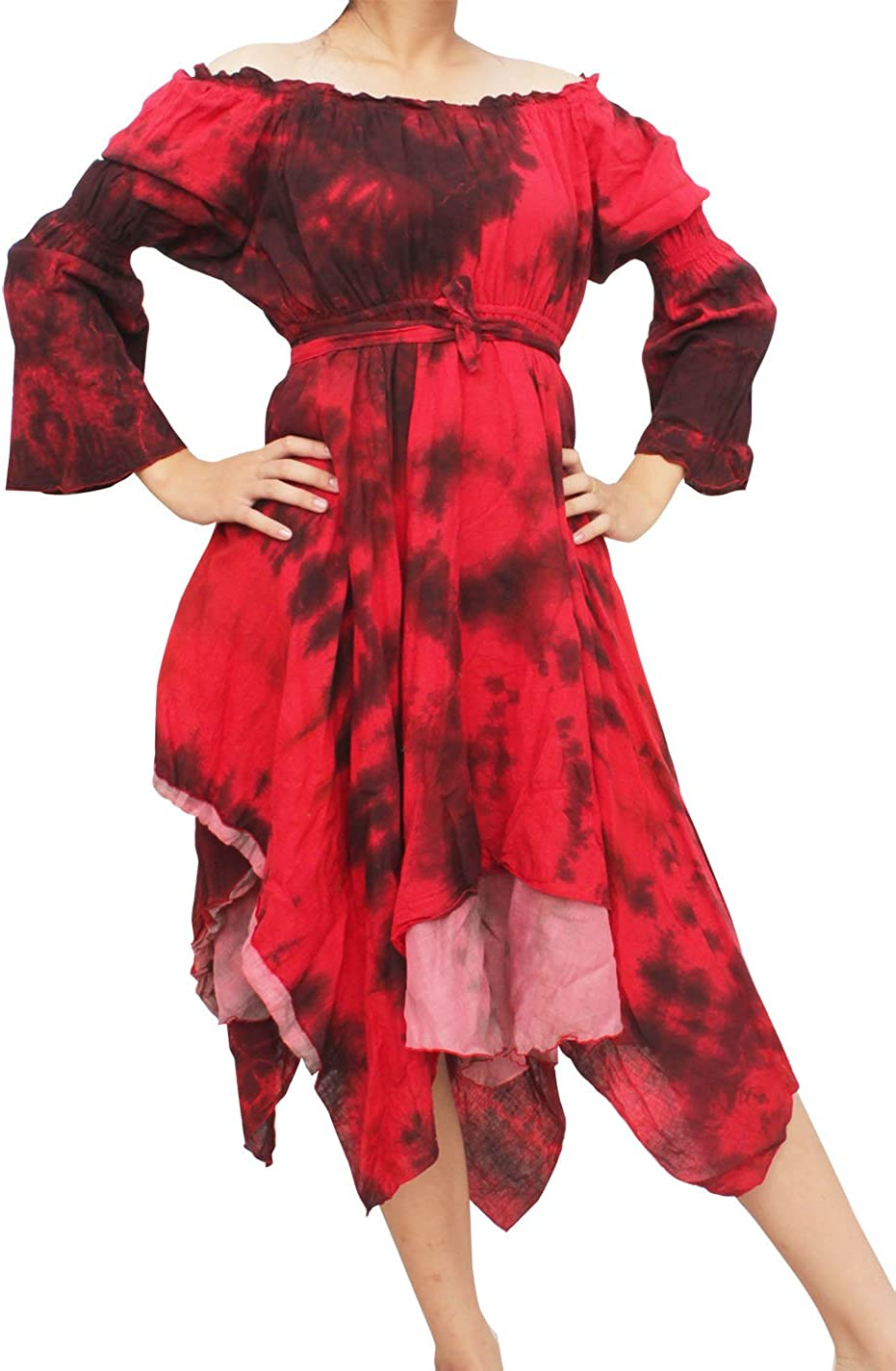 RaanPahMuang Medieval Serving Colorado Springs Mall Wench Full Dye Sleeve Long Cot Tie Complete Free Shipping