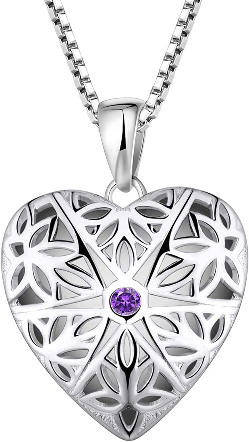 Award-winning store FJ 925 Sterling Silver Locket Solid Necklace Styl Hollow Vintage Recommended