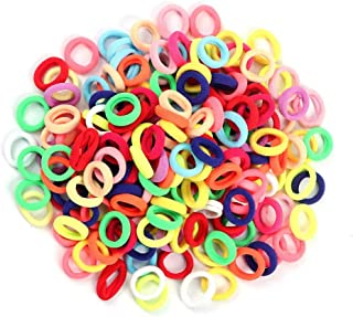 Hair Ties for Kids, 100pcs Small Rubber Hair Bands Elastic Ponytail Holders, Tiny Soft Hair Ties for Baby Toddlers Girls Hair Accessories
