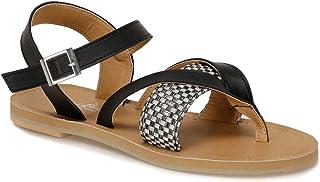 CS19154 Siyah Kadın Sandalet