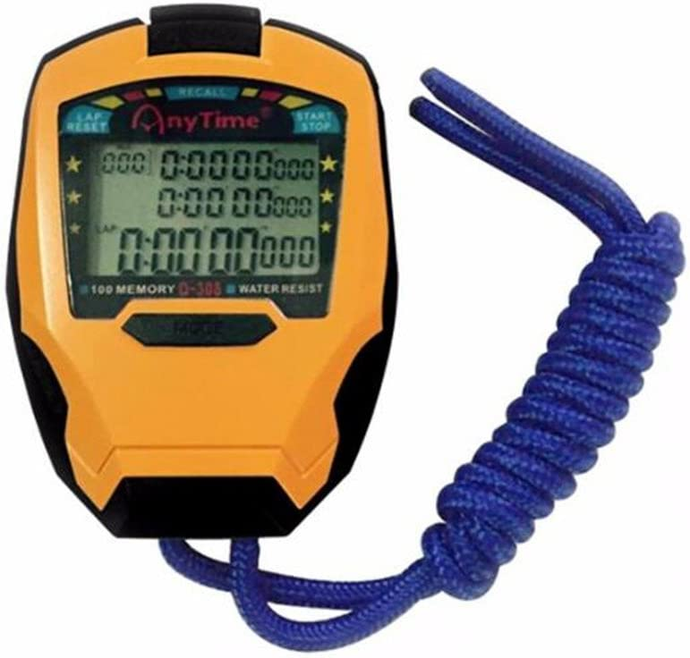 Biscount Stopwatch Timer 3 low-pricing Rows stop 100 professional Laps Spring new work one after another watch