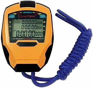 cuzit cronómetro temporizador 3filas 100vueltas profesional Cronómetro deportes al aire libre Handheld contador Digital ...