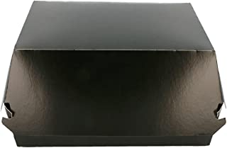 García de Pou 219.88 Conchas Hamburguesa L 250 G/M2, 17,5x18x7,5 cm, Set de 50, Negro