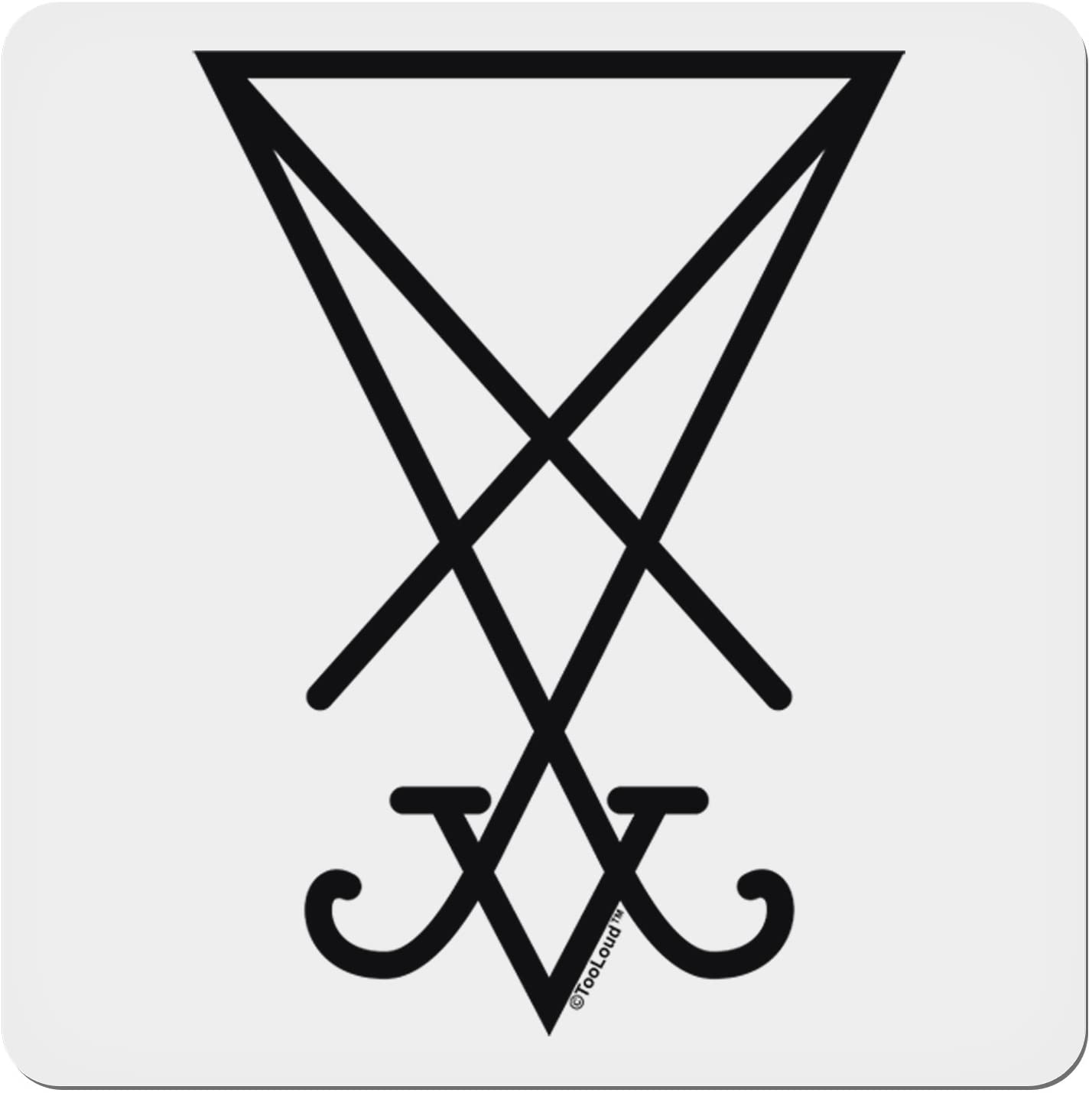 Amazon.com: TOOLOUD Sigil of Lucifer - Seal of Satan 4x4 Square Sticker - 4  Pack: Home & Kitchen