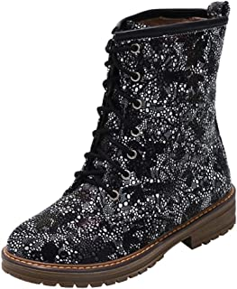 Women's 1460 Round Toe Ankle Boots,Vintage Floral Print Boots