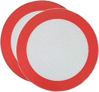 Round Silicone Baking Mat 2 Pack Non Stick Reusable Diameter 6.5 inch Perfect For 7 inch Round Cake Pan Liner Baking Sheets Premium Quality
