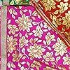 Vibgyor Product Vidhi Enterprises Net Golden Print and Golden Lace Mata Rani Chunri (Multicolour, 13x 9 Inch) -Set of 6 Size #1