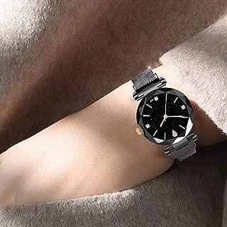 Watch,Becoler Women Watches Minimalism Starry Sky Magnet Buckle Casual Female Wristwatch