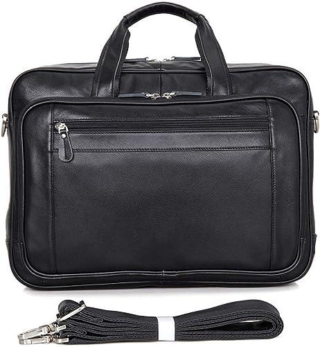 Briefcase Home Herren Tasche Business Bag Aktentasche aus Leder Größe Handtasche 17 Computer Bag