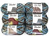 Bernat Blanket Yarn, 5.3oz, 6-Pack (Coastal Cottage)