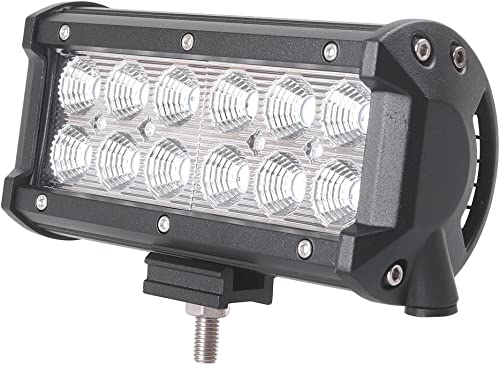 2021 Mallofusa 36W Flood Beam LED Work Light online sale Bar Off Road Square LED Light Waterproof discount for Jeep Boat SUV ATV Car Truck outlet sale