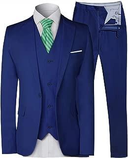 Men's 3 Pieces Suit Elegant Solid One Button Slim Fit Single Breasted Party Blazer Vest Pants Set