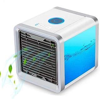 LHQ-HQ El aire frío del ventilador USB acondicionado portátil purificador de aire de refrigeración AC Mini ventilador de escritorio for el dormitorio Oficina de Viajes (Color: Blanco, Tamaño: 17x17x18