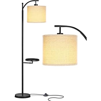 Black Minimalist Home Decor Tall Pole Lamp Dicoool Bright Standing Lamp Suitable for Living Room//Bedroom//Office Modern Floor Lamp with Tray