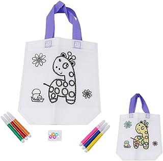 9bbd88f881 Hengsong Girafe Paquet de Doodle Dessiné à la Main Enfants DIY Sac Cadeau à  Colorier Peinture