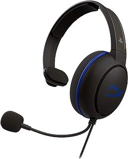 HyperX Cloud Chat 片耳 ヘッドセット 123g超軽量 在宅勤務 ビデオ会議 ボイスチャット 左耳でも右耳でも着用可能 PS5/PS4/PC 2年保証 HX-HSCCHS-BK/AS