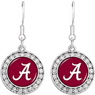 NCAA SEC Team Logo Big Round Rhinestone Earrings