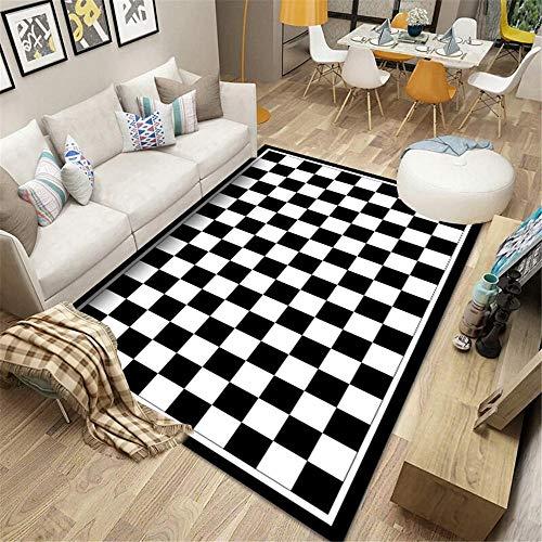 La Alfombra alfombras Pasillo Blanco Blanco Alfombra geométrica Antideslizante Suave salón. alfombras para niños Alfombra Comedor 200*300cm