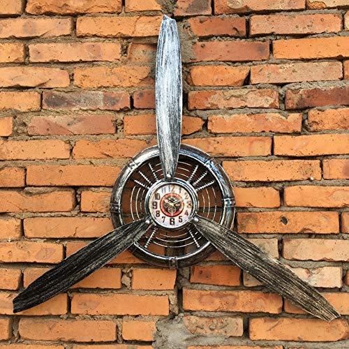 luckything Hélice De Metal Decorativa,Relojes De Pared Colgantes De Hélice De Avión De Metal Vintage, Adecuado para Sala De Estar, Decoración del Hogar, Tienda Personalizada