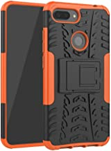 MRSTERUS Xiaomi Mi 8 Lite Case tire Pattern Design Strong Armored Extreme Protective Cover with Removable Bracket Shock Ab...