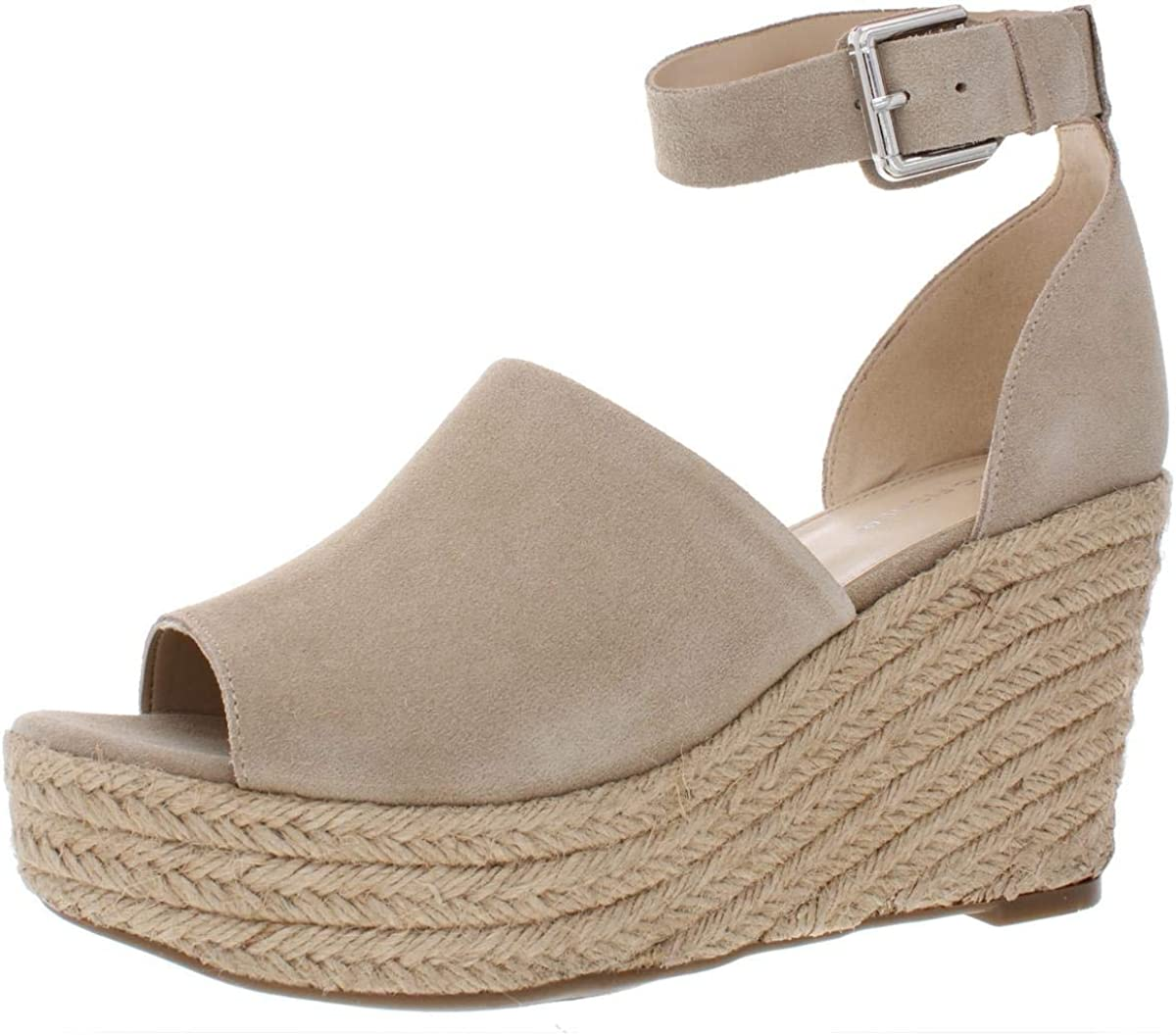 Dealing full price reduction Marc Fisher Womens Cala Leather Casual Peep Beige Shipping included Toe Platform