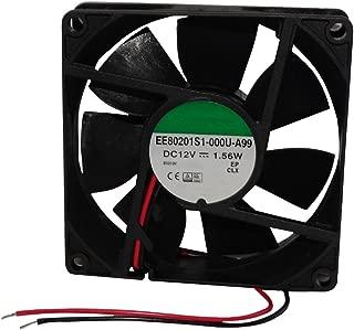 AERZETIX Ventilateur pour bo/îtier 24V 80x80x20mm 61,16m3//h 38dBA 3300rpm 1.54W 0.064A Vapo 2 fils 24AWG C14597