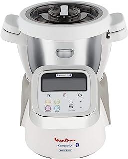 Moulinex i-Companion Robot Cuiseur Multifonction Connecté, 4 Programmes Automatiques, 4 Accessoires Inclus, Capacité jusq...
