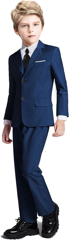 Fersumm Boys Popular Suit 5 Piece Kids Blazer Vest and Tuxedo Max 59% OFF Party Pant
